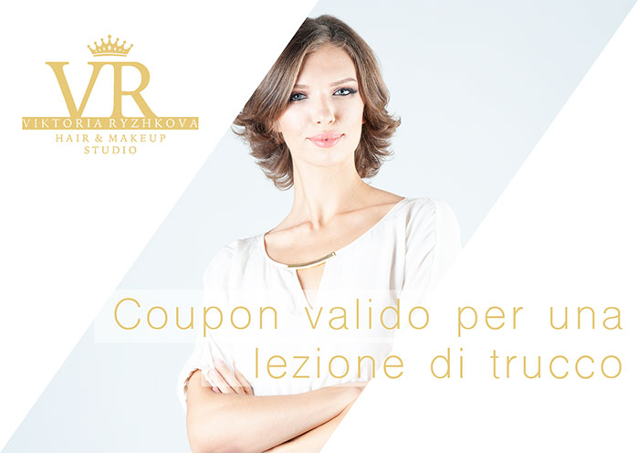 coupon con lezione di trucco in regalo, make up artist viktoria ryzhkova