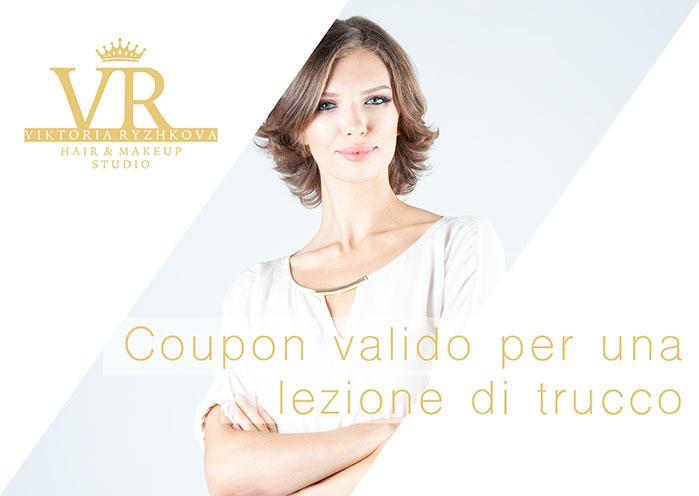 coupon con lezione di trucco in regalo, make up artist viktoria ryzhkova